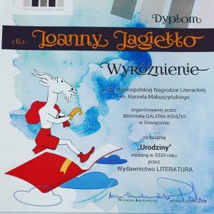 Dyplom Wyróżnienie Kornela Makuszyńskiego